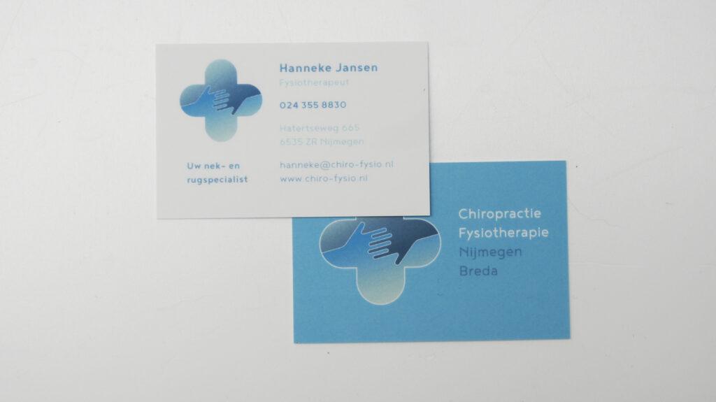 Chiropractie Fysiotherapie Nijmegen Visitekaartje